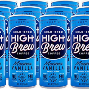 High Brew Cold Brew Coffee, Mexican Vanilla, 8 Fl Oz Can, Pack of 12 Now .43 (Was .95)