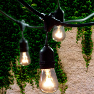Lemontec Commercial Grade Outdoor String Lights with 15 Hanging Sockets Now .99 (Was .95)