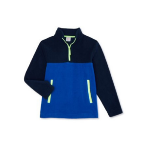 Wonder Nation Boys Fleece Quarter Zip Pullover Now  (Was .97)