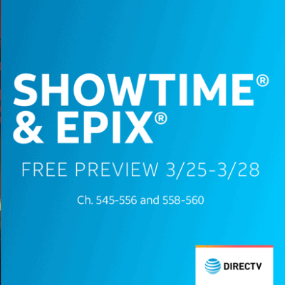 FREE Showtime & Epix Previews This Weekend