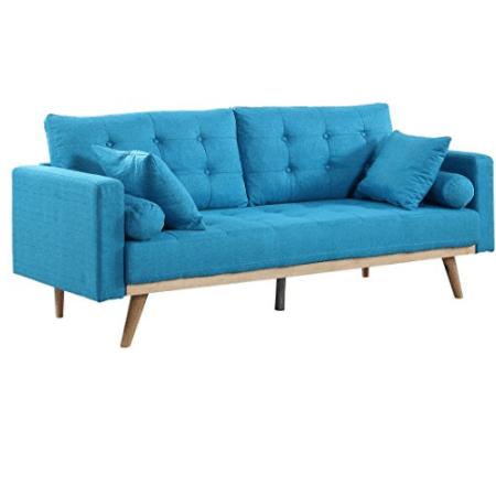 Divano Roma Furniture Madison Sofas, Light Blue Now 9.99 (Was 0)