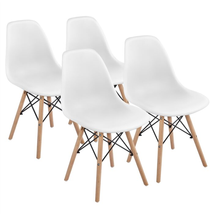 Set of 4 SmileMart Modern Dining Chairs Now .99