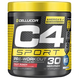 C4 Sport Pre Workout Powder Fruit Punch 30 Servings Now .57 (Was .99)