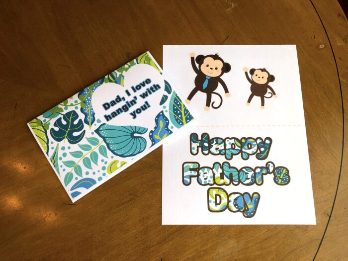 FREE Printable Father's Day 3D Monkey Card w/ Video Instructions
