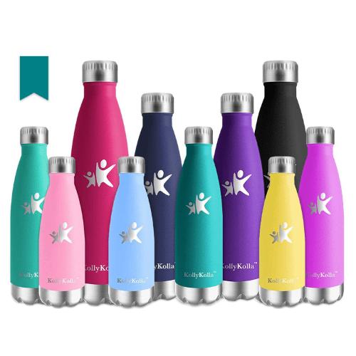 KollyKolla Stainless Steel Insulated Water Bottles Now .97