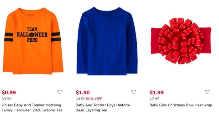 The Children's Place Baby & Toddler Tees from $0.99 With Free Shipping
