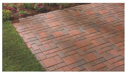 Red Concrete Paver Bricks Only <img src=