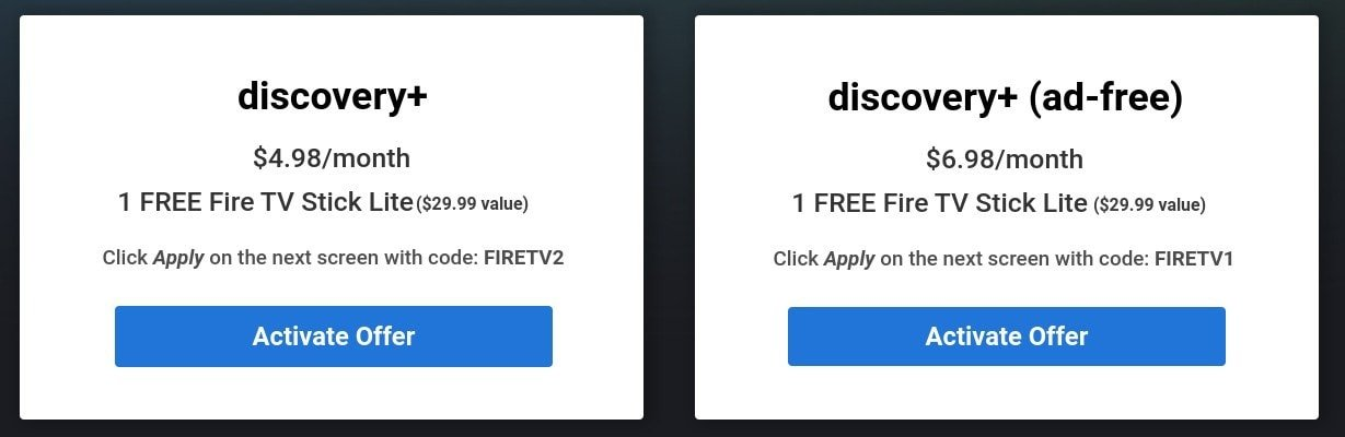 HURRY!! FREE Fire TV Stick Lite w/ New Discovery+ Subscription - 1st 50,000 Only!