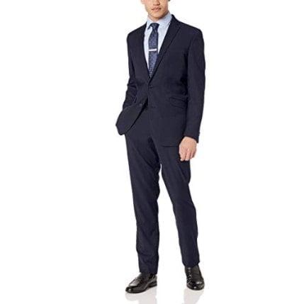 Kenneth Cole REACTION Men's Stretch Slim Fit Suit Now .99 (Was 9)