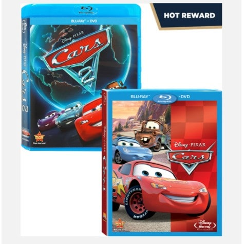Disney Movie Rewards: Cars + Cars 2 Blu-Rays Only 400 Points