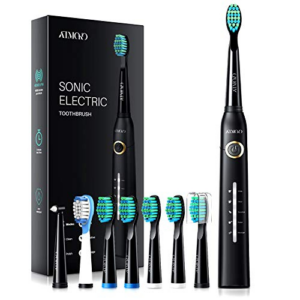 ATMOKO Electric Toothbrush with 8 Duponts Brush Heads Now .59 (Was .94)