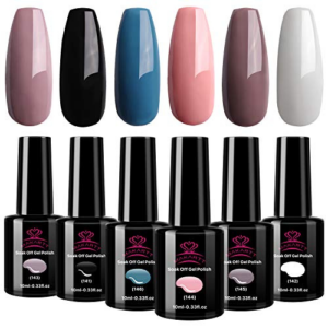 Makartt Nude Pink Gel Nail Polish Set Now .99 (Was .99)