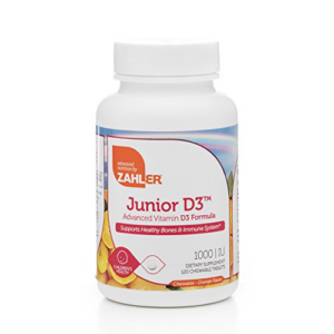 Zahler Junior D3 Chewable 1000IU Now .64 (Was .95)