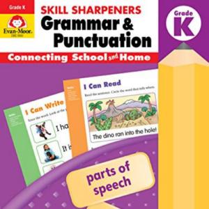 Evan-Moor Skill Sharpeners Grammar and Punctuation Grade K, Full-Color Activity Book - Supplemental Homeschool Workbook Now .49 (Was .99)