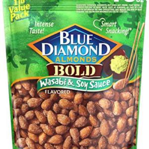 Blue Diamond Almonds, Bold Wasabi & Soy Sauce, 16 Ounce Now .81 (Was .98)