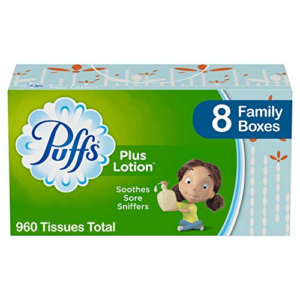 Puffs Plus Lotion Facial Tissues, 8 Family Boxes Now .89 (Was .69)