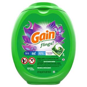 Gain flings! Laundry Detergent Soap Pacs 96 Count Now .67 (Was .99)