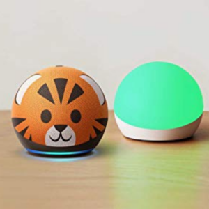 All-new Echo Dot 4th Gen Kids Edition + Echo Glow | Tiger Now .99 (Was .98)