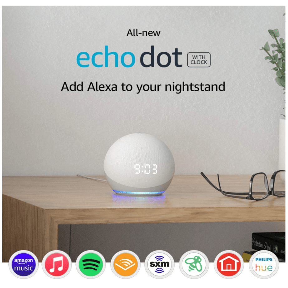 Echo Dot with Clock Now .99