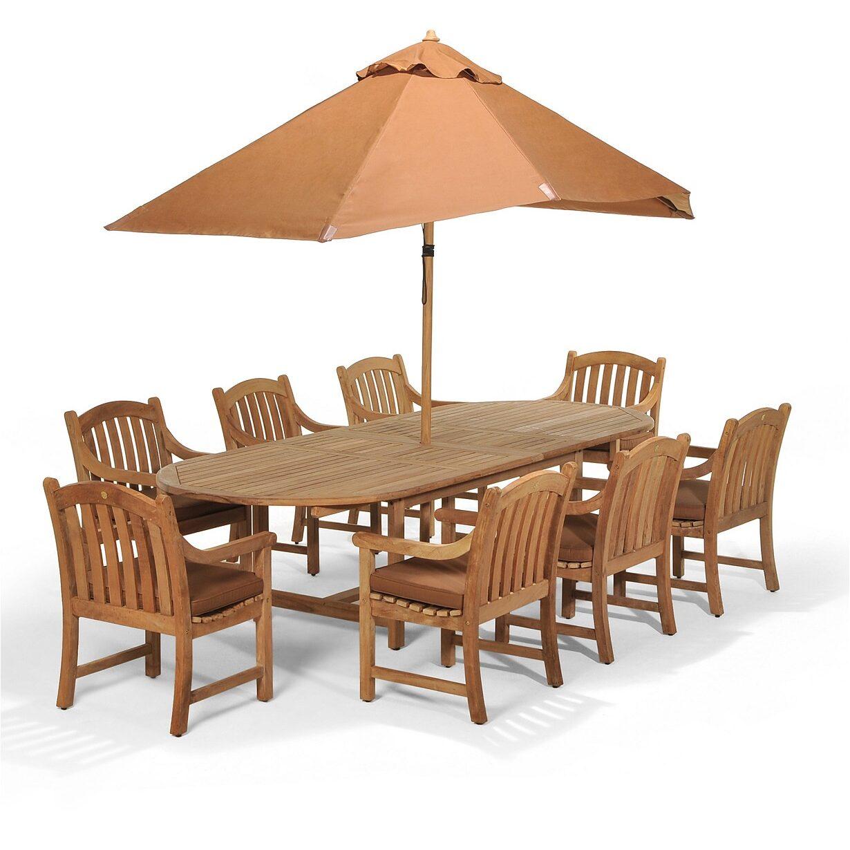 Bristol Outdoor Teak 9-Pc. Dining Set $2,529 w/ Free Shipping (Was $6919)