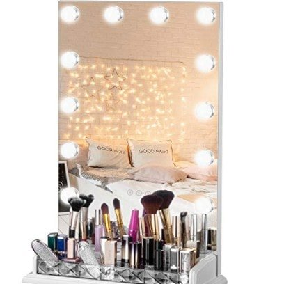 LUXFURNI Vanity Table Makeup Hollywood Mirror Now .90 (Was 9.80)