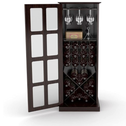 Wood Bar Liquor Cabinet with 24 Bottle Wine Holder Now 9.99 (Was 4.99)