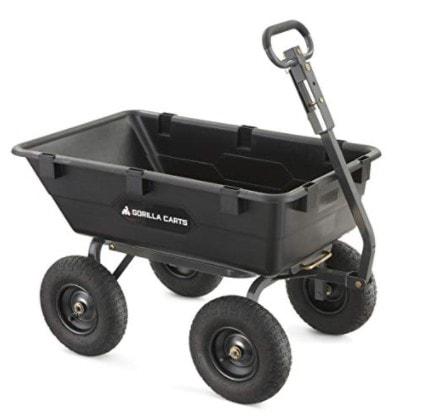 Gorilla Carts Heavy-Duty Poly Yard Dump Cart Now 7.98 (Was 9.00)