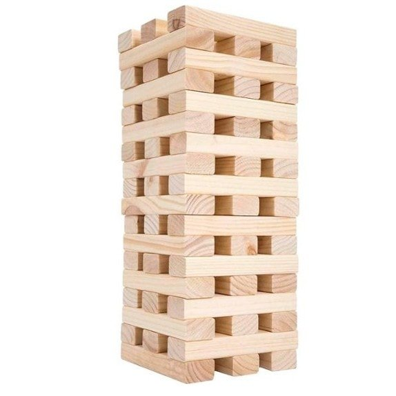 Giant Wooden Blocks Tower Stacking Game .99 Shipped