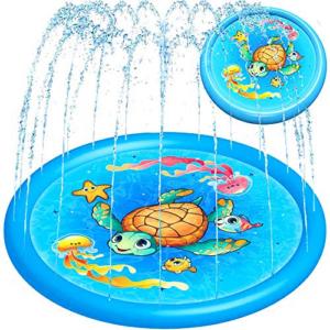 Splash Pad Water Toy Sprinkler Mat Pool Now .99 (Was .95)
