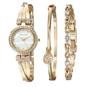Anne Klein Women's Bangle Watch and Bracelet Set Now .99 (Was 0.00)