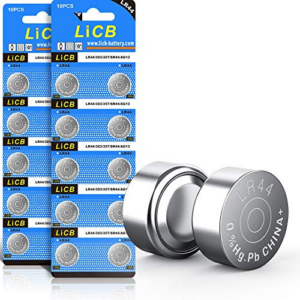 LiCB 20 Pack LR44 AG13 357 303 SR44 Battery 1.5V Button Coin Cell Batteries Now .00 (Was .99)