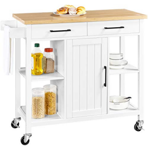 Kitchen Island on Lockable Wheels with 2 Storage Drawers Now 7.99 (Was 5.99)