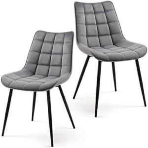 Dining Chairs Upholstered Velvet Side Chairs Gray Now .49 (Was.99)
