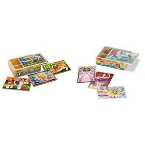 Melissa & Doug Wooden Jigsaw Puzzles in a Box  Now .50 (Was .98)