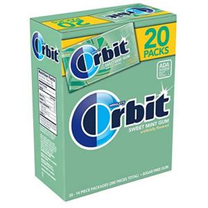 ORBIT Sweet Mint Sugarfree Gum 20 Pack Box 280 Pieces Now .78 (Was .65)