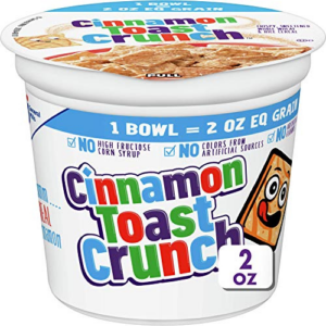 Cinnamon Toast Crunch Cereal Cup, 12 Cups, 2 oz Now .50 (Was .76)