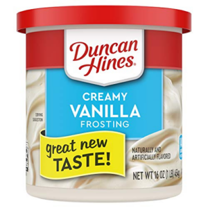 Duncan Hines Creamy Vanilla Frosting, 8 pack Now .19 (Was .76)
