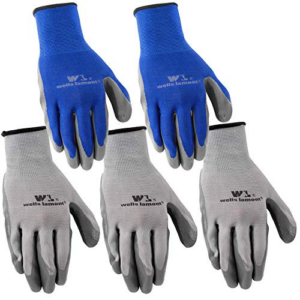 Wells Lamont Nitrile Work Gloves, 5 Pack, Large,Grey Now .96 (Was .99)