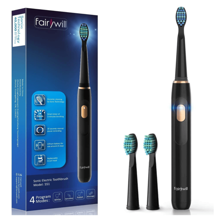 Fairywill Sonic Electric Toothbrush Now .99