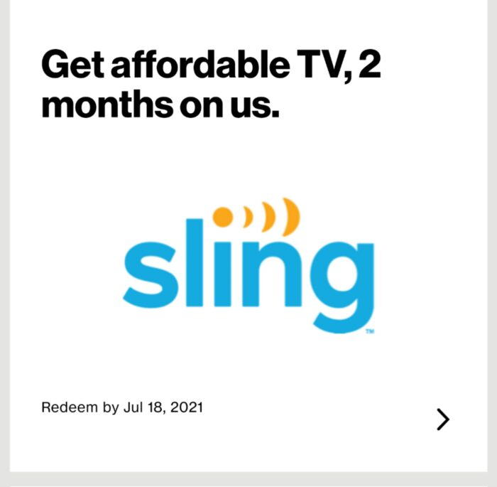 Verizon Customers Can Get 2 Free Months of Sling TV