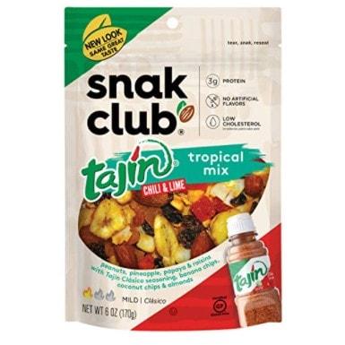6 Pack of Snak Club Tajin Tropical Mix, 6oz Bags Now .51