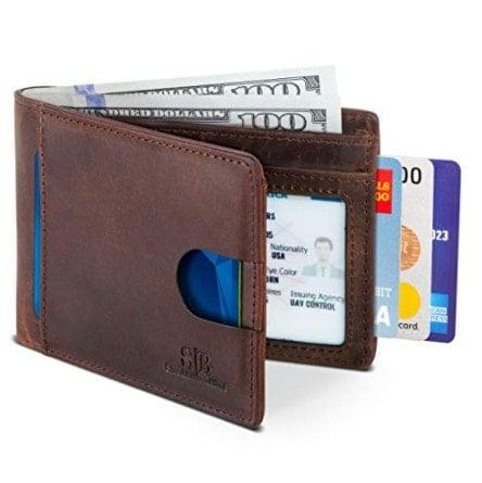 Slim Bifold Genuine Leather Front Pocket Wallet Now .09 (Was .99)