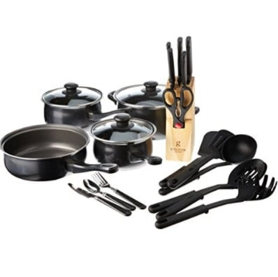 32 Piece Gibson Home Carbon Steel Cookware Set Now .44 (Was .99)