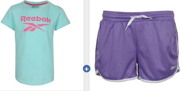 Reebok Girl's Short Sleeve Tee + Mesh Gym Shorts .99 Shipped (Retail )