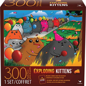 Exploding Kittens 300 Piece Jigsaw Puzzle, Multicolor Now .21 (Was .99)
