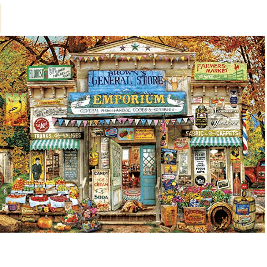 Buffalo Games Brown's General Store 1000 Piece Jigsaw Puzzle Now .69 (Was .99)