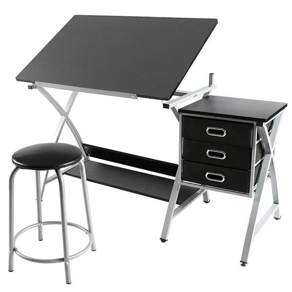 Adjustable Drafting Table Drawing/Craft Art Desk for Adults w/Stool Only 4