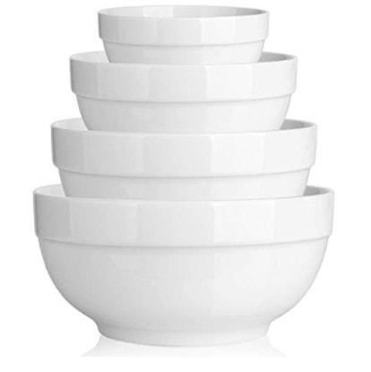 DOWAN Porcelain 64/42/22/12 Ounce Nesting Bowls Only .59