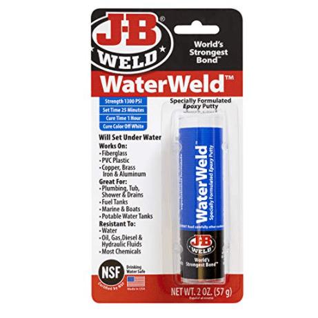 J-B Weld 8277 WaterWeld Epoxy Putty Stick - 2 oz. Now .20