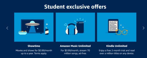 FREE Amazon Prime Student Membership and FREE GrubHub